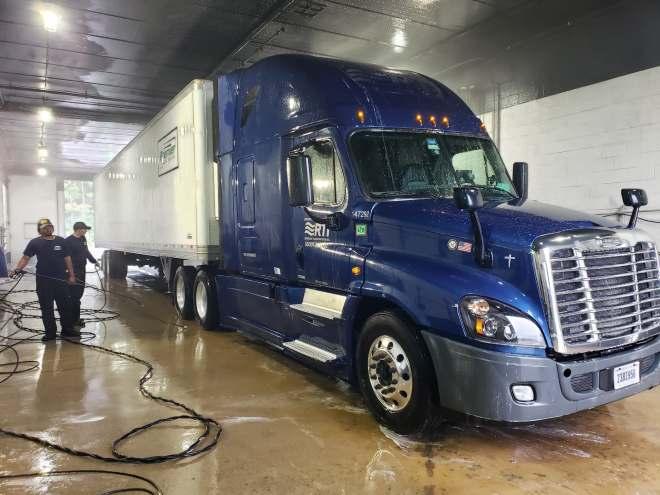 sanitizing Bob's truck